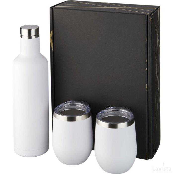 Pinto en Corzo koper vacuüm geïsoleerde geschenkset Wit