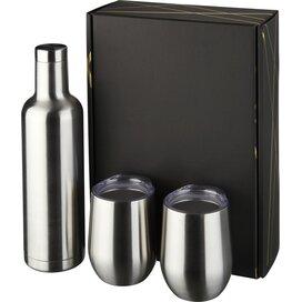 Pinto en Corzo koper vacuüm geïsoleerde geschenkset Zilver