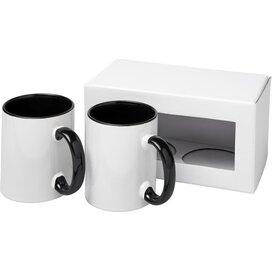 Ceramic sublimatie mok 2 delige geschenkset Zwart