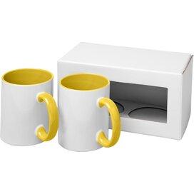 Ceramic sublimatie mok 2 delige geschenkset geel