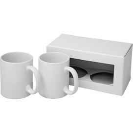 Ceramic sublimatie mok 2 delige geschenkset Wit