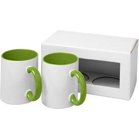 Ceramic sublimatie mok 2 delige geschenkset Groen