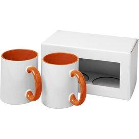 Ceramic sublimatie mok 2 delige geschenkset Oranje