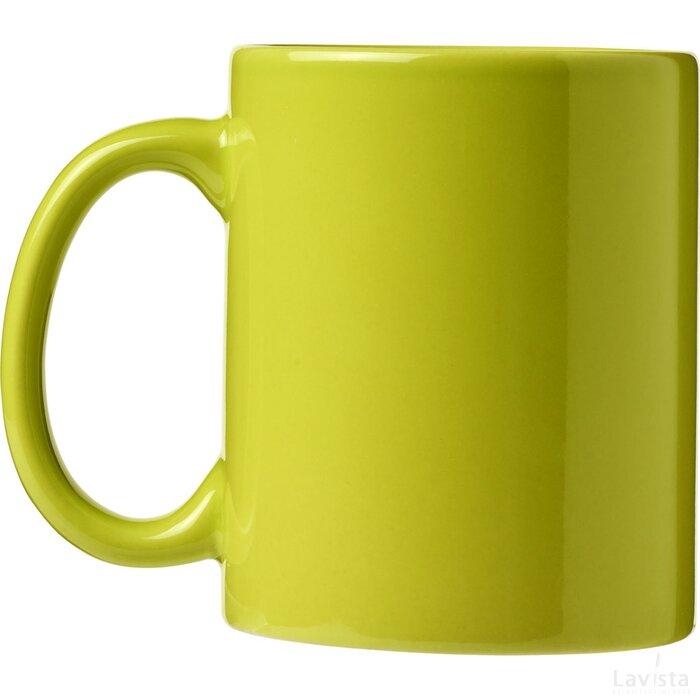 Ceramic mok 4 delige geschenkset Lime
