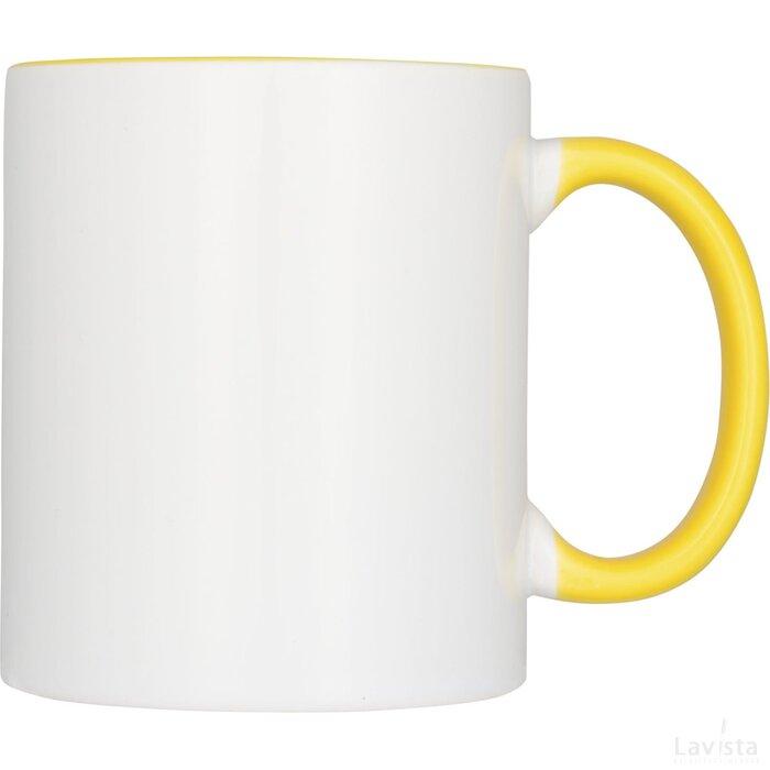 Ceramic sublimatie mok 4 delige geschenkset geel