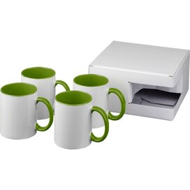 Ceramic sublimatie mok 4 delige geschenkset Groen
