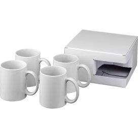 Ceramic sublimatie mok 4 delige geschenkset Wit