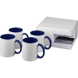 Ceramic sublimatie mok 4 delige geschenkset blauw
