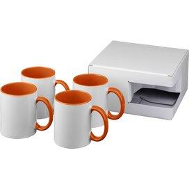 Ceramic sublimatie mok 4 delige geschenkset Oranje