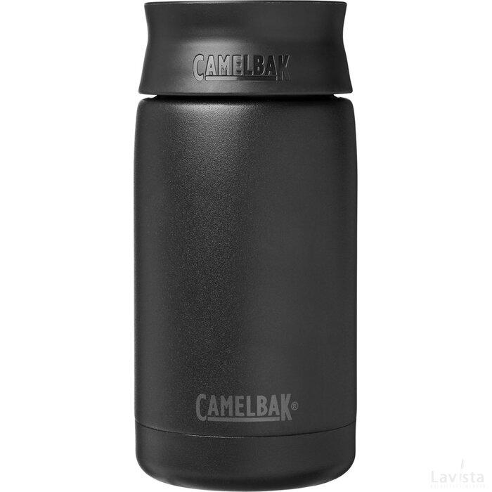 Hot Cap 350 ml koperen vacuümgeïsoleerde beker Zwart