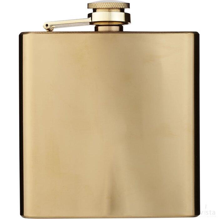 Elixer 175 ml goudkleurige heupfles Goud