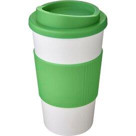 Americano® 350 ml geïsoleerde beker met grip Wit,Groen