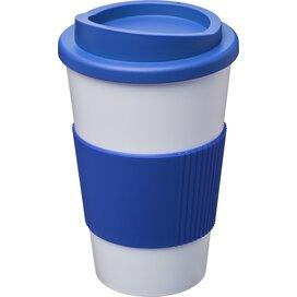 Americano® 350 ml geïsoleerde beker met grip Wit,Mid Blue
