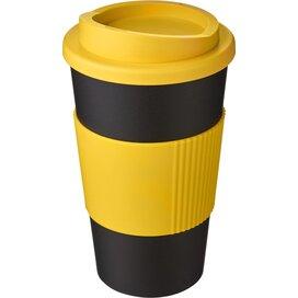 Americano® 350 ml geïsoleerde beker met grip Zwart,geel
