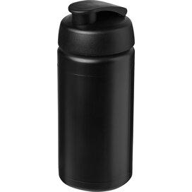 Baseline® Plus grip 500 ml sportfles met flipcapdeksel Zwart