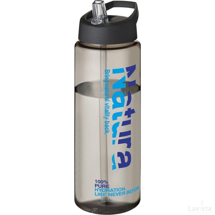 H2O Vibe 850 ml sportfles met tuitdeksel Charcoal,Zwart
