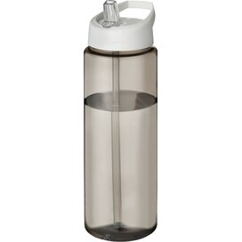 H2O Vibe 850 ml sportfles met tuitdeksel Charcoal,Wit