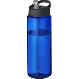 H2O Vibe 850 ml sportfles met tuitdeksel blauw,Zwart