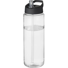H2O Vibe 850 ml sportfles met tuitdeksel Transparant,Zwart
