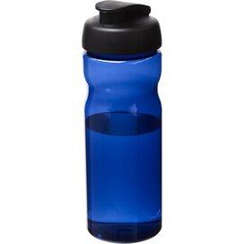 H2O Eco 650 ml sportfles met kanteldeksel blauw,Zwart