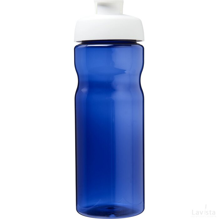H2O Eco 650 ml sportfles met kanteldeksel blauw,Wit