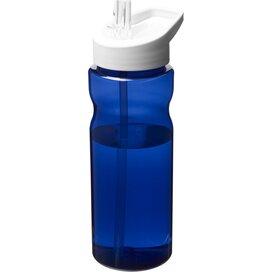 H2O Eco 650 ml sportfles met tuitdeksel blauw,Wit