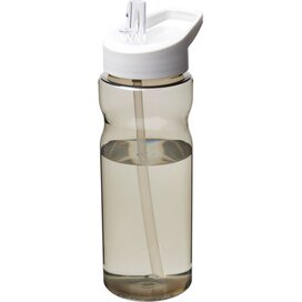 H2O Eco 650 ml sportfles met tuitdeksel Charcoal,Wit