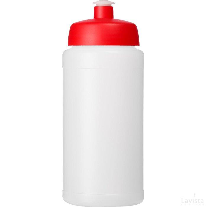 Baseline® Plus grip 500 ml sportfles met sportdeksel Transparant,Rood