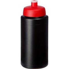 Baseline® Plus grip 500 ml sportfles met sportdeksel Zwart,Rood