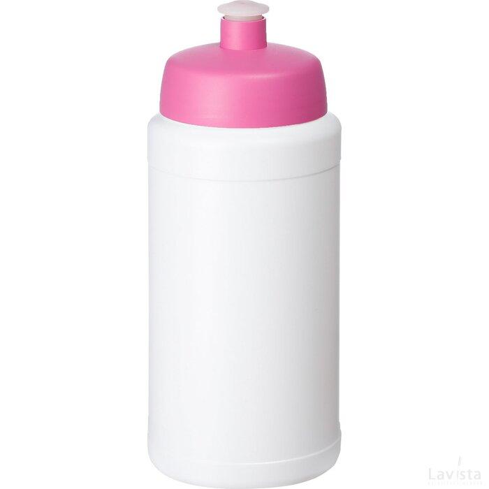Baseline® Plus 500 ml drinkfles met sportdeksel Wit,Roze