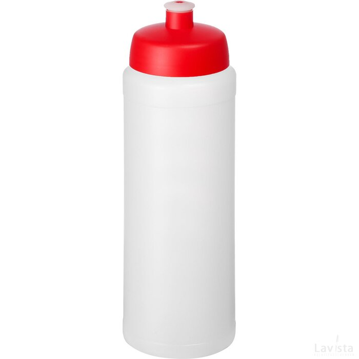 Baseline® Plus grip 750 ml sportfles met sportdeksel Transparant,Rood