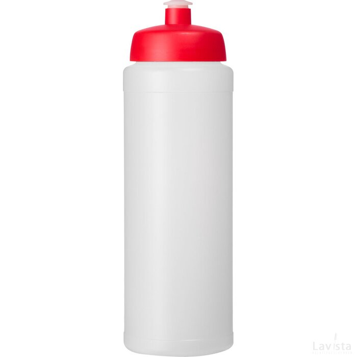 Baseline® Plus 750 ml drinkfles met sportdeksel Transparant,Rood