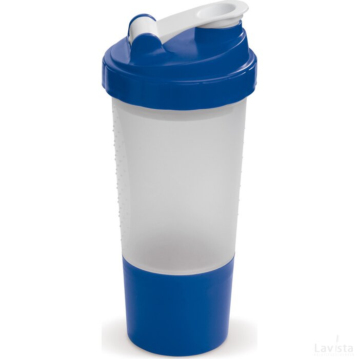 Shaker compartiment 500ml Transparant Blauw