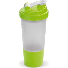 Shaker compartiment 500ml Transparant Licht Groen