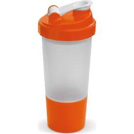 Shaker compartiment 500ml Transparant Oranje