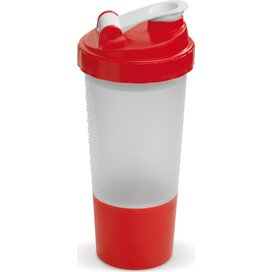 Shaker compartiment 500ml Transparant Rood