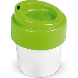 Hot-but-cool koffiebeker met deksel 240ml Wit / Licht groen