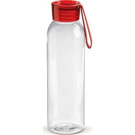 Tritan drinkfles 600ml Transparant Rood