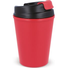 Thermo koffiebeker kunststof 350ml Licht Rood