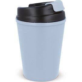 Thermo koffiebeker kunststof 350ml Pastel blauw