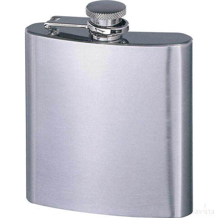 Heupfles Retumbler-Xxl mat zilver, zilver