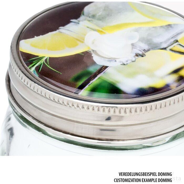 Set van 4 glazen met rietjes Retumbler-Aracuja veelkleurig, transparant