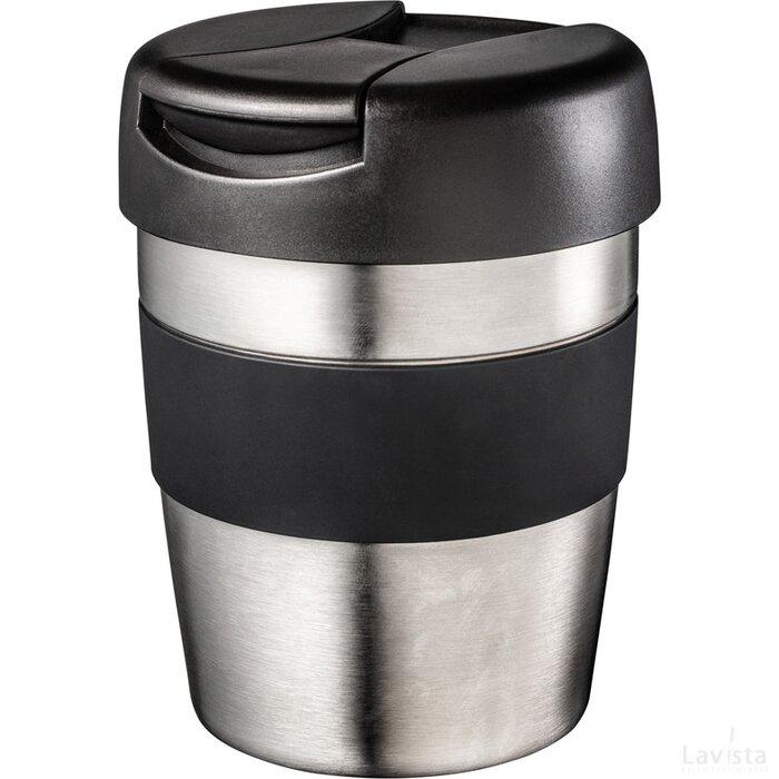 Thermobeker Retumbler-Toccoa zwart, zilver